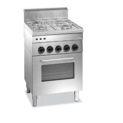 Image de Fogão a gás com 4 queimadores + forno multifunções a gás - F4GFG M660